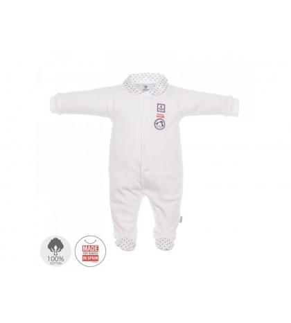 Dojčenský overal veľkosť 56 biely 685 Cambrass