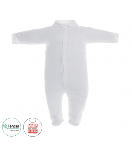 Dojčenský overal s Tencel veľkosť 52 biely Cambrass