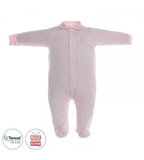 Dojčenský overal s Tencel veľkosť 62 ružový Cambrass