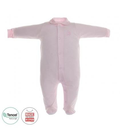 Dojčenský overal s Tencel veľkosť 68 ružový Cambrass
