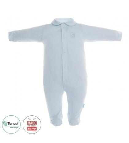 Dojčenský overal s Tencel veľkosť 74 modrý Cambrass