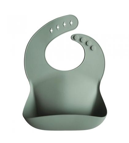 Mushie silikónový podbradník light shell