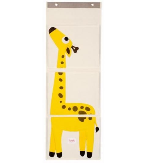 3 Sprouts Wall Organizer - Organizér na stenu žirafa
