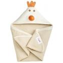 3 Sprouts Hooded Towel - Osuška s kapucňou kura