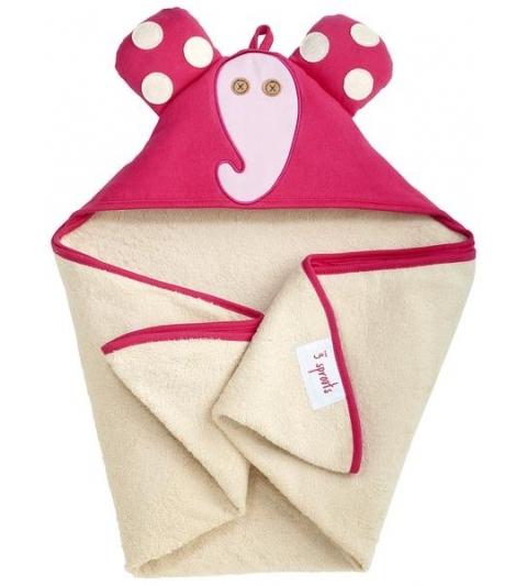 3 Sprouts Hooded Towel - Osuška s kapucňou  sloník