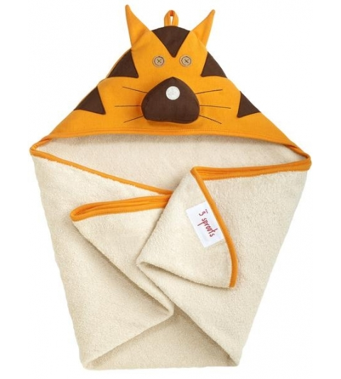 3 Sprouts Hooded Towel - Osuška s kapucňou  tiger