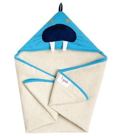 3 Sprouts Hooded Towel - Osuška s kapucňou  mrož