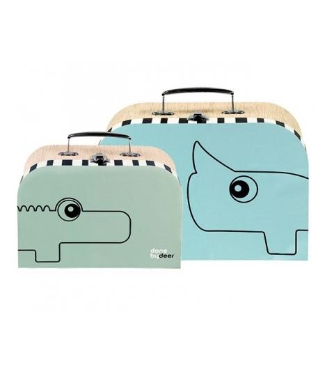 2 ks set kufríkov - modrá /zelená