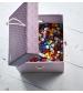 úložný box 2 ks balloon malý ružový