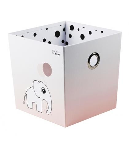 úložný box  bodka - ružový