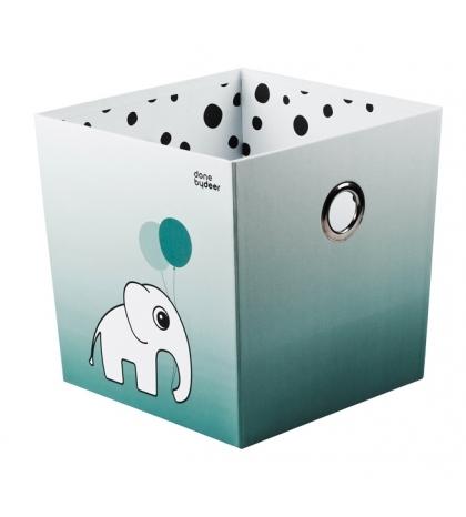 úložný box  bodka - modrý