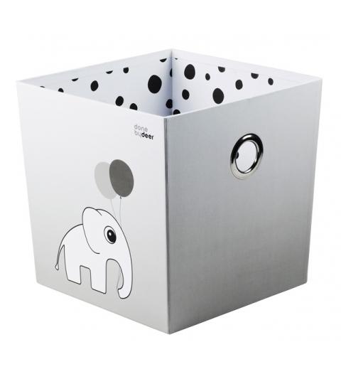 úložný box  bodka - sivý