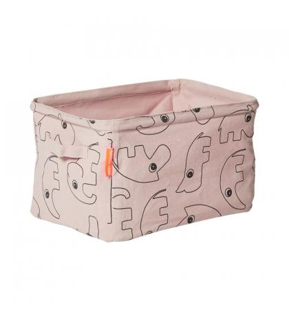Done by Deer obojstranný mäkký uložný košík - ružový