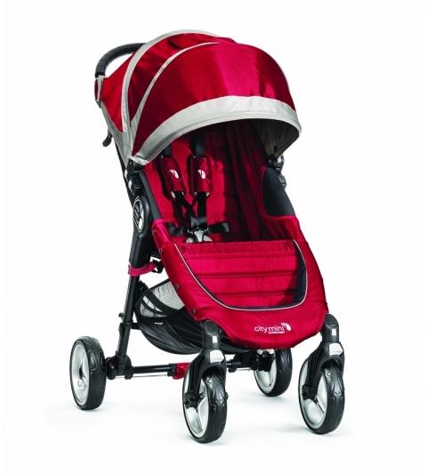 CITY MINI 4 KOLESÁ - baby jogger CRIMSON/GRAY