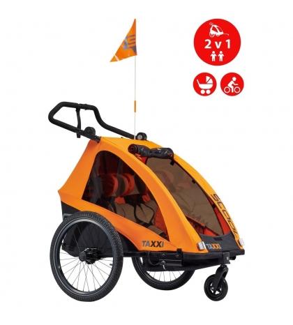 S'COOL S'COOL TaXXi Pro 2 Cyklovozík oranžový