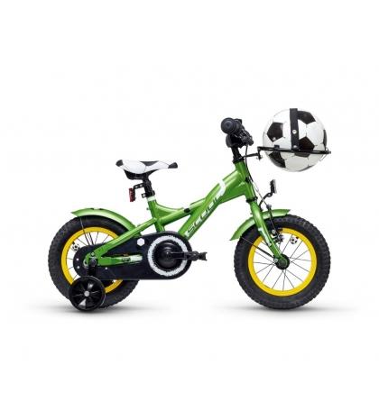 S'COOL S'COOL Detský bicykel XXlite futbal 12 zelený (od 99 cm)