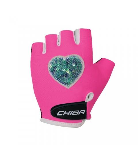 Chiba Cyklistické rukavice pre deti COOL KIDS Srdce