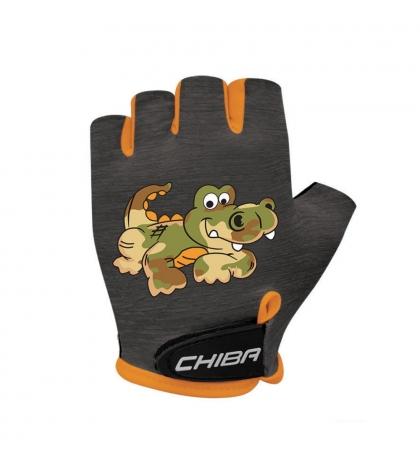 Chiba Cyklistické rukavice pre deti COOL KIDS Krokodíl