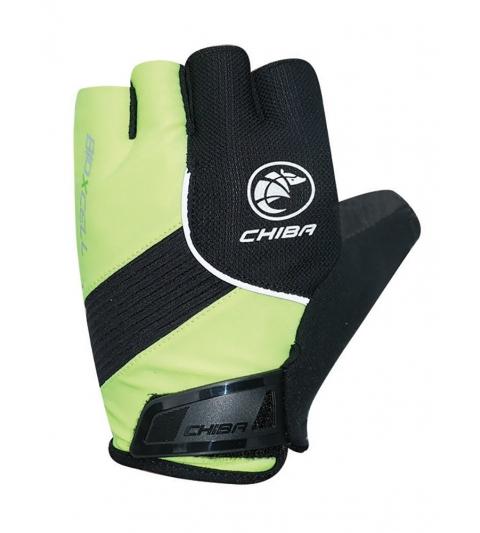 Chiba Cyklistické rukavice pre dospelých BioXCell Classic neónovo-žlté