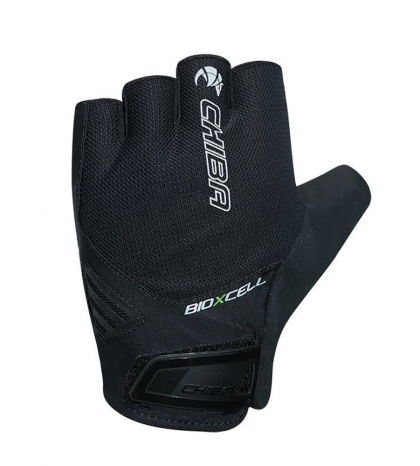 Chiba Cyklistické rukavice pre dospelých BioXCell Air čierne