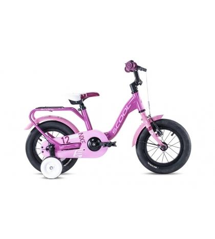 S'COOL S'COOL Detský bicykel niXe alloy 12 ružový/svetloružový (od 102 cm)