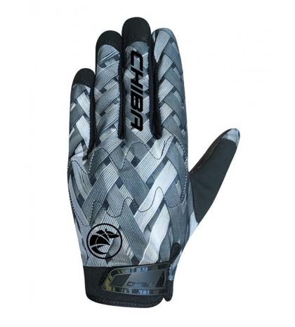 Chiba Cyklistické rukavice pre dospelých Elements šedé