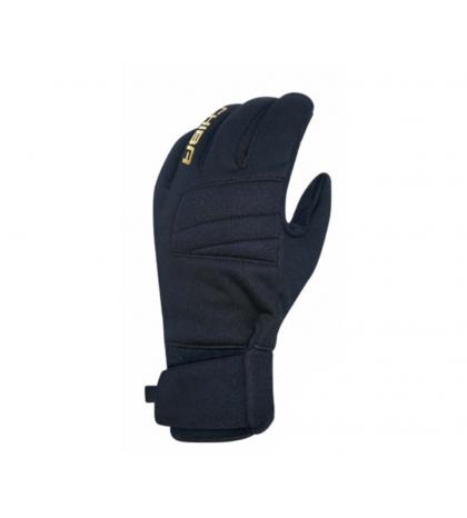 Chiba Zimné cyklistické rukavice pre dospelých Classic čierna/zlatá