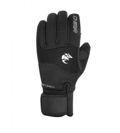Chiba Zimné cyklistické rukavice pre dospelých Classic Čierna