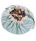 Play&Go 2v1 hracia deka / vak na hračky PRINTED diamantová modrá