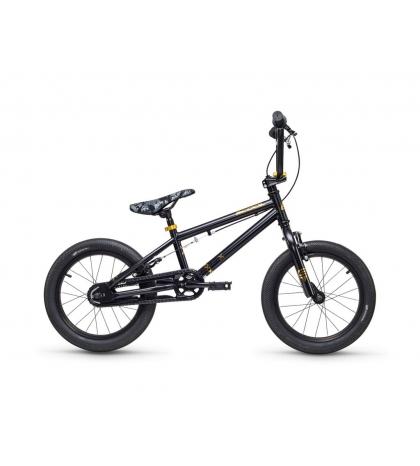 S'COOL S'COOL XtriX mini 16 Detský bicykel čierny/zlatý