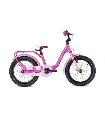 S'COOL S'COOL Detský bicykel niXe alloy 16 ružový/bledoružový (od 107 cm)