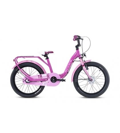 S'COOL S'COOL Detský bicykel niXe alloy 18 ružový/bledoružový (od 114 cm)