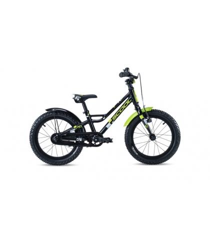 S'COOL S'COOL Detský bicykel faXe 18 čierno/zelený (od 110 cm)