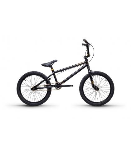 S'COOL S'COOL XtriX 40 Detský bicykel čierny/zlatý (od 122cm)