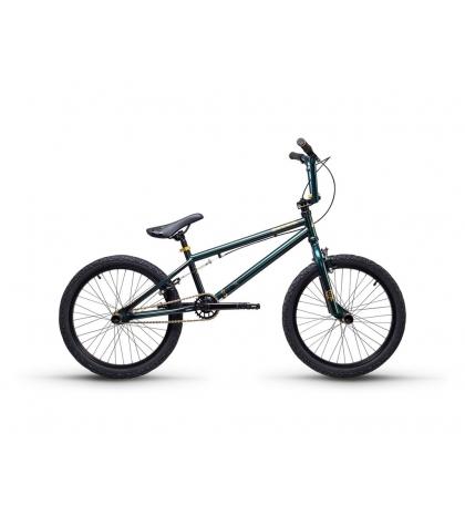 S'COOL S'COOL XtriX 40 Detský bicykel tmavozelený/zlatý (od 122 cm)