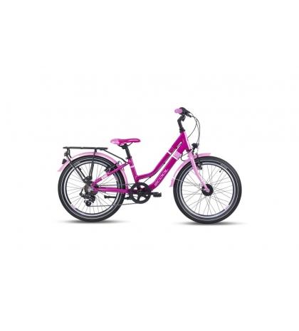 S'COOL S'COOL Detský bicykel chiX twin alloy 20 ružový (od 116 cm)