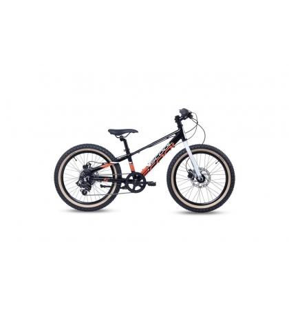 S'COOL S'COOL Xroc disc 20 Detský bicykel čierno/bielo/oranžový