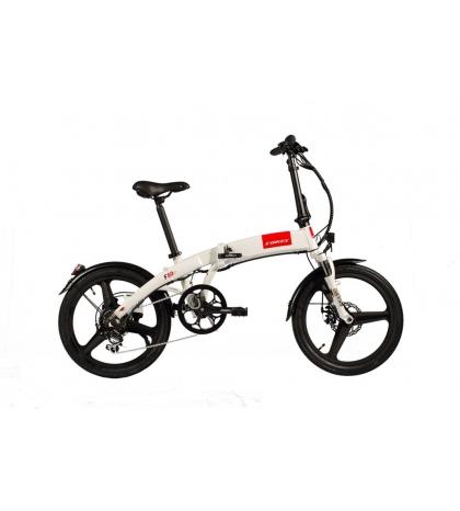 S-BIKES S-bikes F50e Skladací elektrobicykel biely