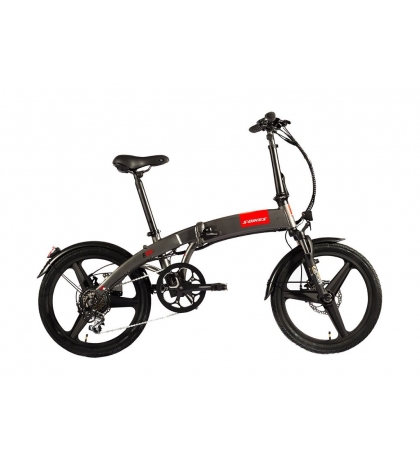 S-BIKES S-bikes F50e Skladací elektrobicykel sivý