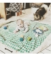Play&Go 2v1 hracia deka / vak na hračky PRINTED diamantová zelená