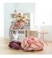 Play&Go 2v1 hracia deka / vak na hračky ružový slon