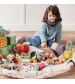 Play&Go 2v1 hracia deka / vak na hračky PRINTED diamantová ružová