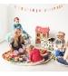 Play&Go 2v1 hracia deka / vak na hračky CLASSIC sivý