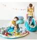 Play&Go 2v1 hracia deka / vak na hračky CLASSIC tyrkysový