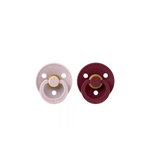 BIBS Colour cumlíky veľkosť 1 z prírodného kaučuku 2ks - pink-plum-elderberry