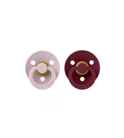 BIBS Colour cumlíky veľkosť 2 z prírodného kaučuku 2ks -  pink-plum-elderberry