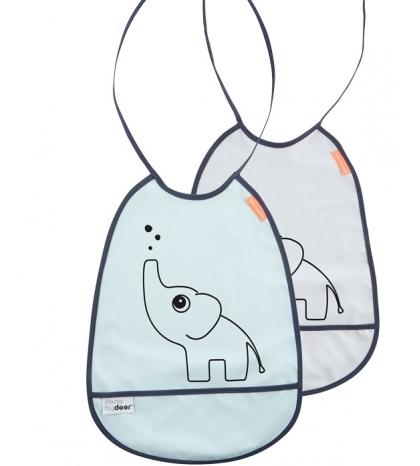 set 2 podbradíkov Elphee Done by Deer sivá/modráá