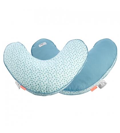 vankúš na kojenie bodka DONE BY DEER modrý