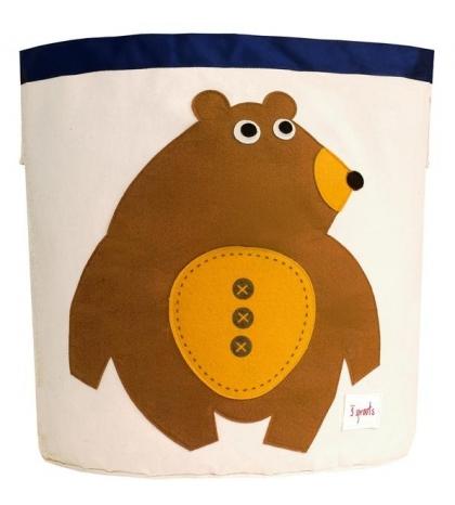 3 Sprouts Storage Bin - Kôš na hračky medveď