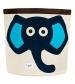 3 Sprouts Storage Bin - Koš na hračky modrý slon